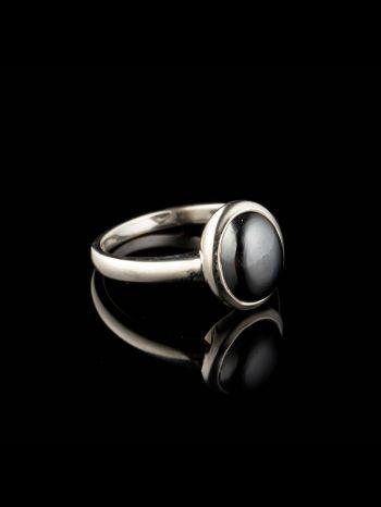 Hematite silver ring