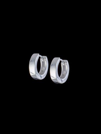 Small silver earrings base/hoops