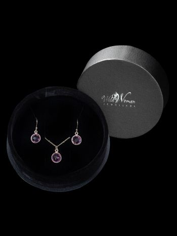 Amethyst Silver Jewellery Set in a gift box 69,30 €