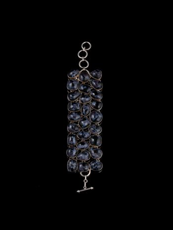 Agate Silver Bracelet