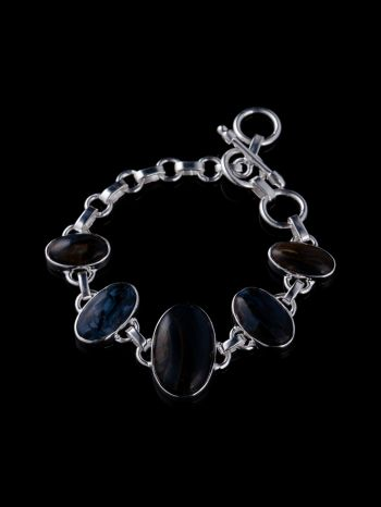 Pietersite cab bracelet