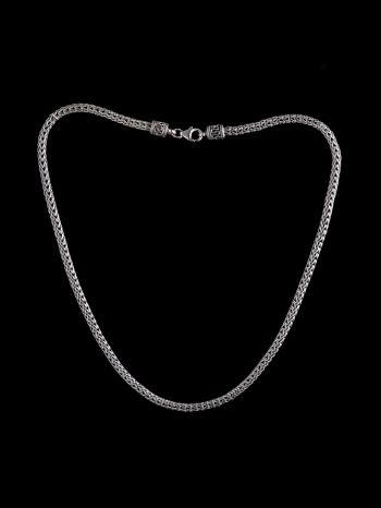 Ornamented silver chain