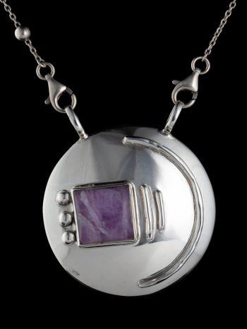 Kunzite Silver Pendant