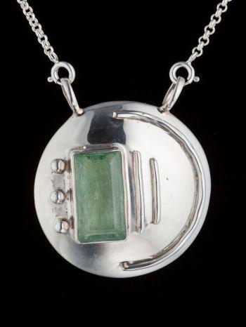 Aquamarine Silver Pendant