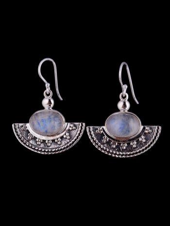 Moonstone Silver Earrings