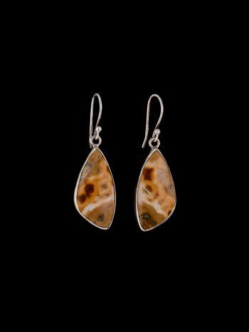 Ocean Jasper silver earrings