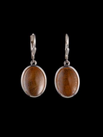 Brazil rutile quartz silver earring