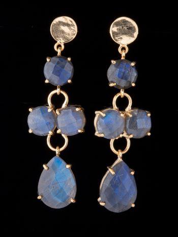 Labradorite 14K Gold Earrings