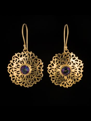 Mystic Topaz 14K Gold Earrings