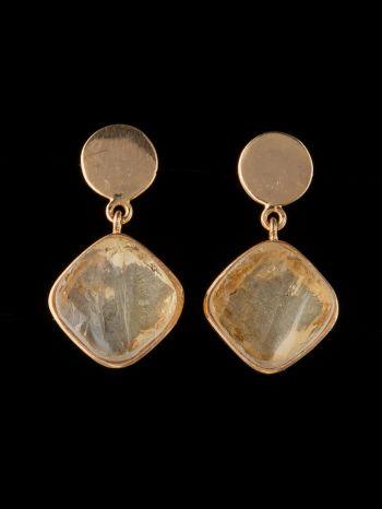 Citrine 14K Gold Earrings