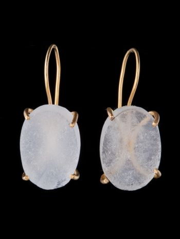 Crystal 14K Gold Earrings