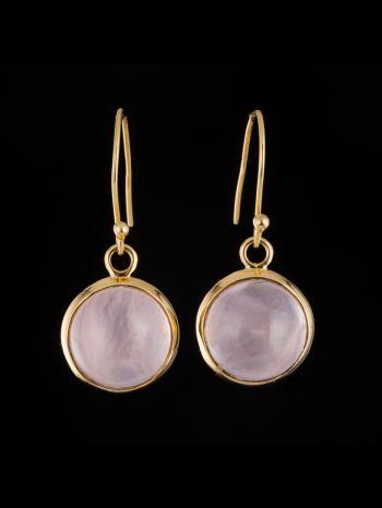 Rose Quartz 14K Gold Earrings