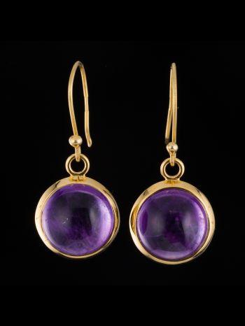 Amethyst 14K Gold Earrings