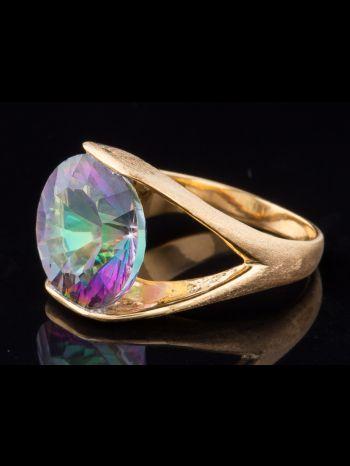 Mystic Quartz 14K Gold Ring