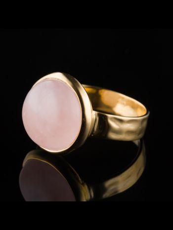 Rose Quartz 14K Gold Ring