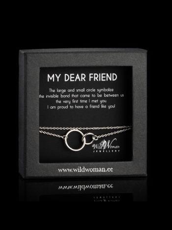 """Silver bracelet """"Best friend"""""""