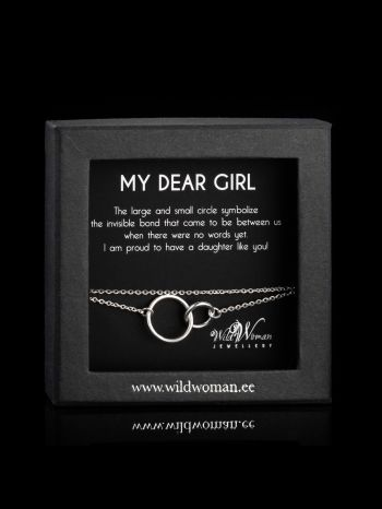 """Silver bracelet """"Best daughter"""""""