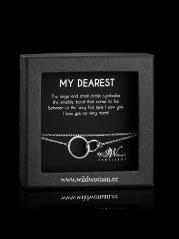 "Silver bracelet ""My love"""