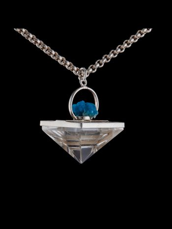Crystal Druzy silver pendant