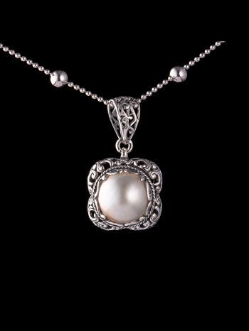 Mother of pearl silver pendant