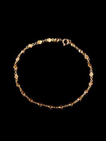 Yellow safire gold bracelet