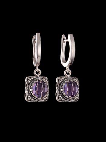 Ametyst silver earring
