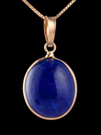 Lapis Lazuli 14K Gold pendant