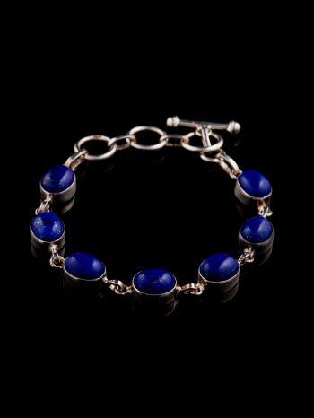 Lapis Lazuli Silver Bracelet