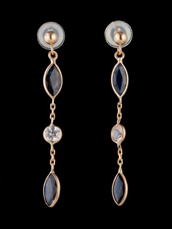 14K Gold earrings with sapphires