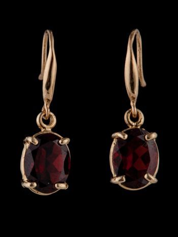 Garnet 14K Gold earrings