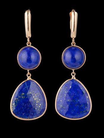 Lapis Lazuli 14K Gold earrings