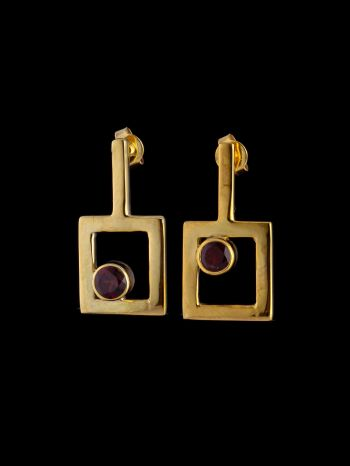 """""""I am worthy"""" gold plated silver earrings"""