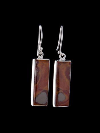 Noreena jasper silver earring