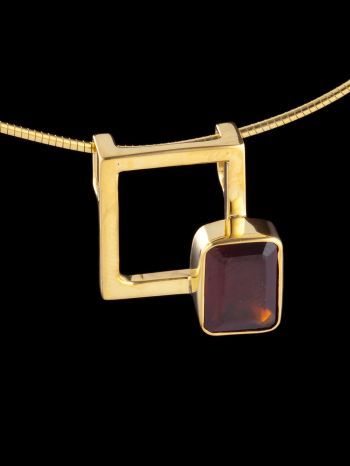 """""""i am worthy"""" gold plated silver pendant"""