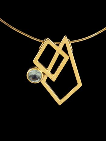 Passion gold plated silver pendant