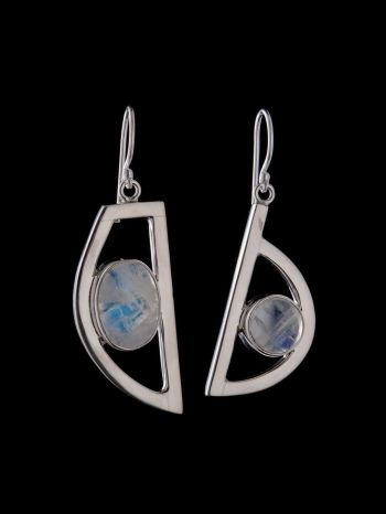 """""""Mighty you"""" moonstone silver earrings"""
