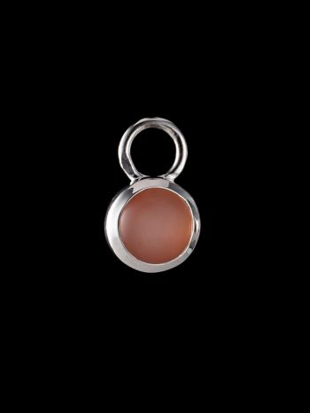 Indian peach moonstone silver pendant