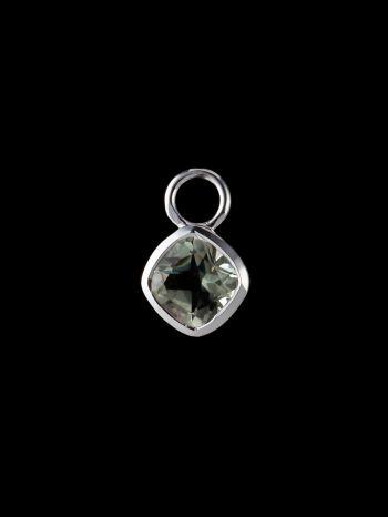 Green ametyst silver pendant