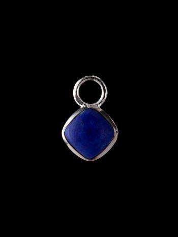 Lazurite (lapis lazuli) silver pendant