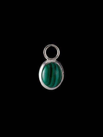 Malachite silver charm (single)