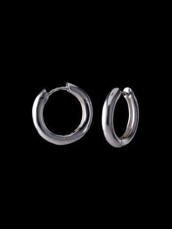 Big silver earrings base/hoops