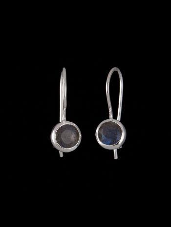 Small labradorite silver earrings