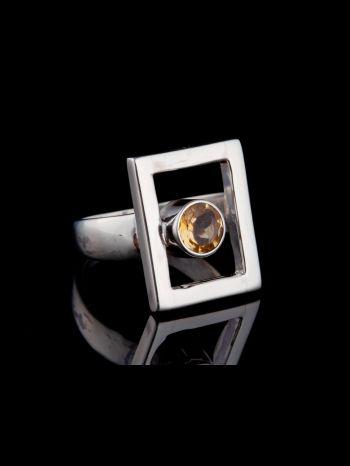 """""""I am worthy"""" silver ring"""