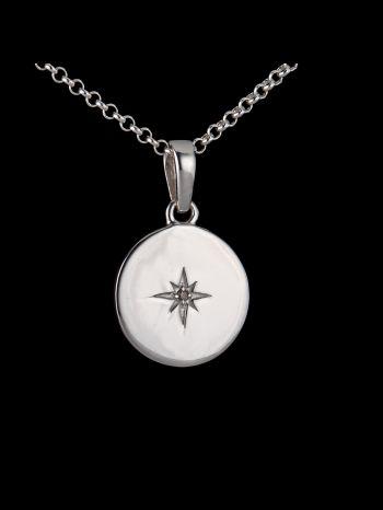 "Diamond silver pendant ""World´s Best"""