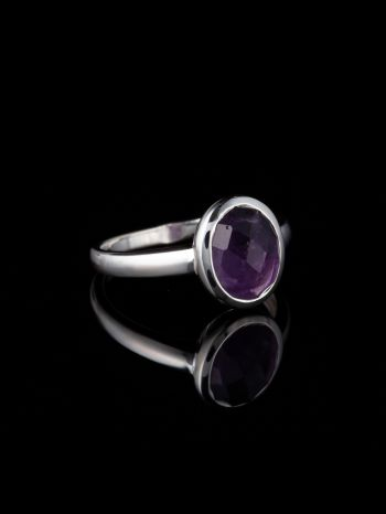 Ametyst silver ring