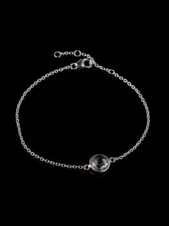 Crystal silver bracelet