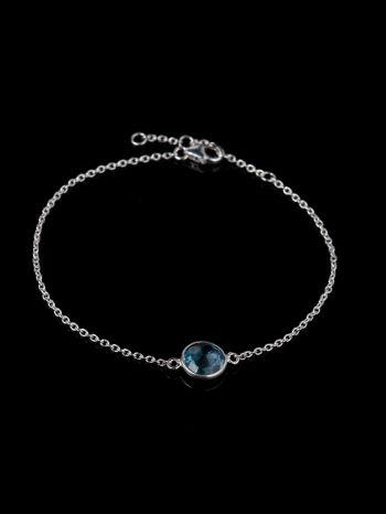 Blue topaz silver bracelet