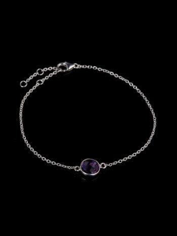Ametyst silver bracelet