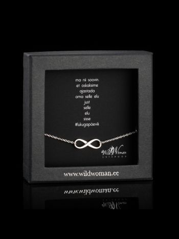 """Infinity silver necklace  """"It´s all about timing"""""""