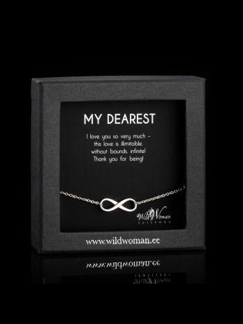 "Infinity silver bracelet ""Beloved"""